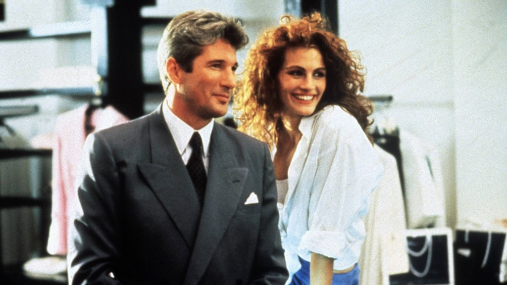 "Julia Roberts (Callgirl Vivian) und Richard Gere (Edward Lewis) in ""Pretty Woman"" (Foto: imago images/United Archives)"