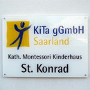 Eingangsschild Montessori-Kinderhaus (Foto:SR)