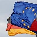 Europa- und Deutschlandflagge (Foto: dpa)
