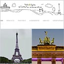 Collage zum Berlin-Paris-Blog