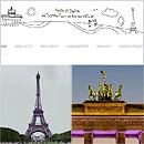 Collage zum Berlin-Paris-Blog