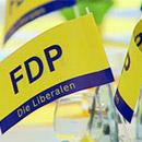 FDP-Fahnen (Foto: dpa)
