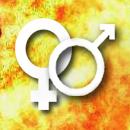 Symbole für Weiblichkeit und Männlichkeit