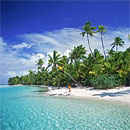 Palmenstrand in der Südsee