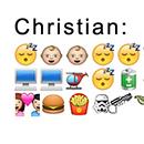 Christian Balsers Tag in Emoticons ausgedrückt