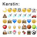 Kerstin Marks Tag in Emoticons ausgedrückt