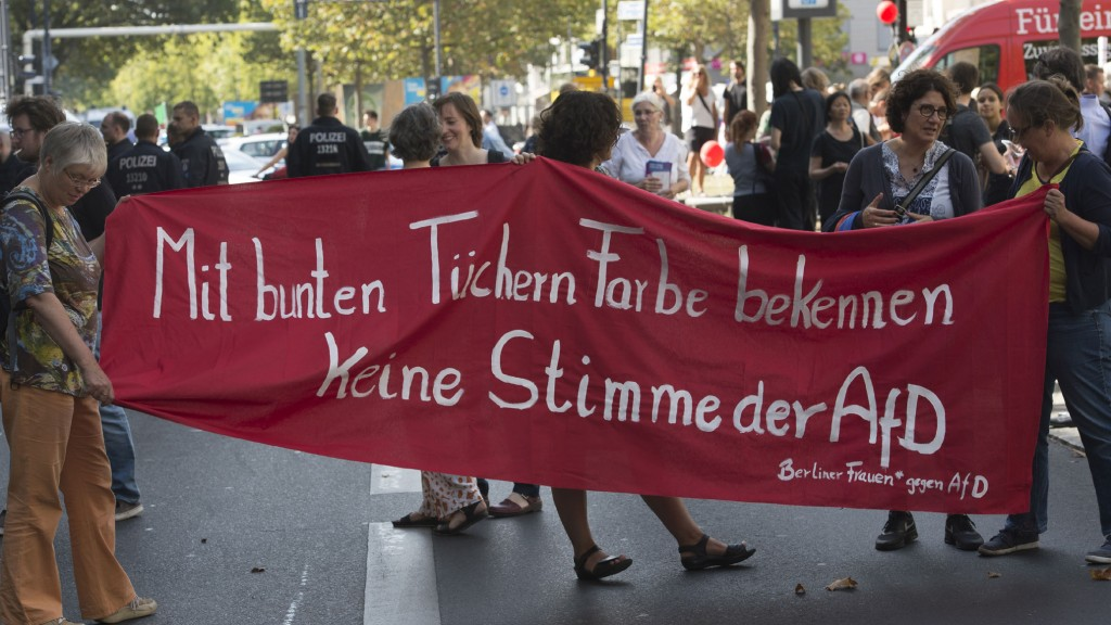 Anti-AfD-Demonstration von Frauen in Berlin (Foto: dpa)