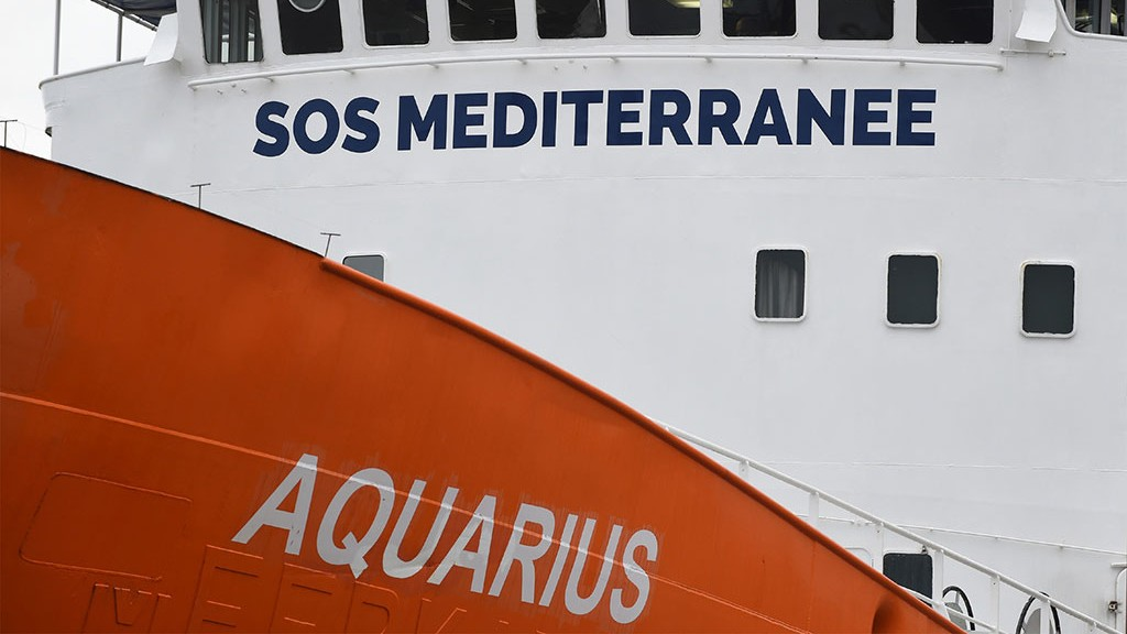 Foto: Die MS Aquarius