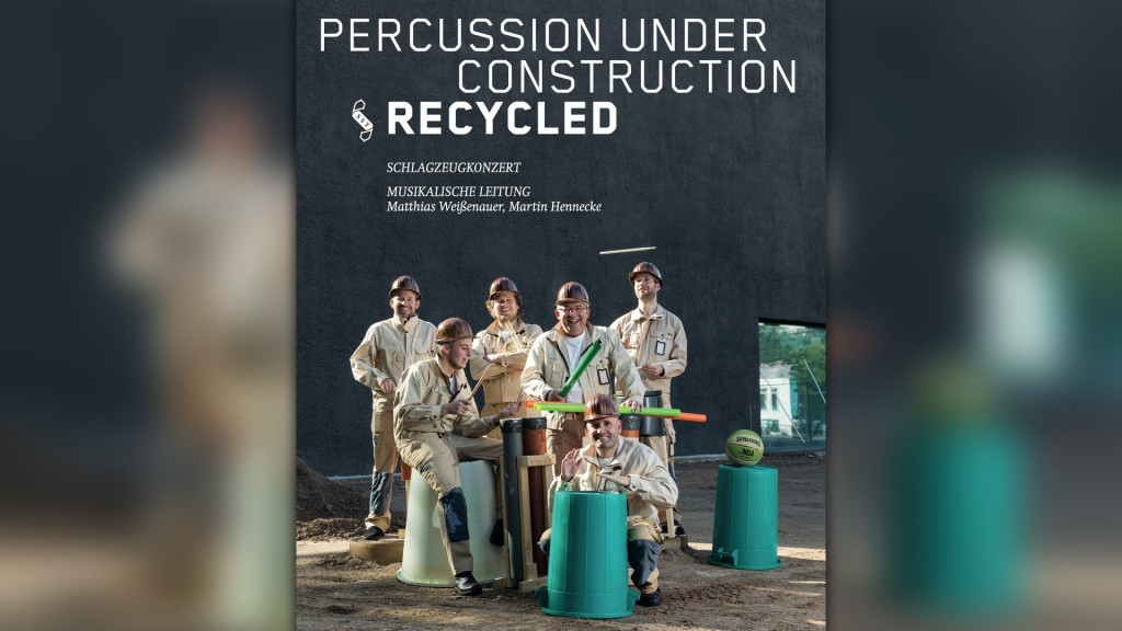 Plakat Percussion under construction recycled (Foto: Saarländisches Staatstheater)