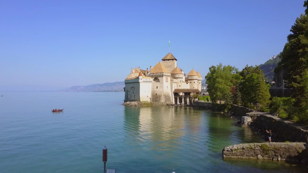 Foto: Schloss Chillon am Genfer See