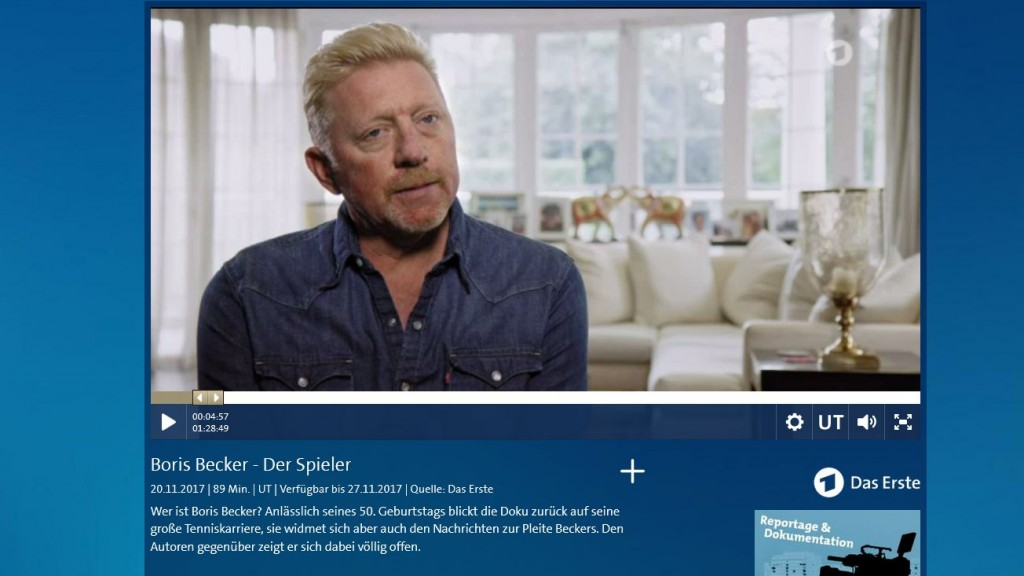 Boris Becker-Doku (Screenshot der ARD-Mediathek)