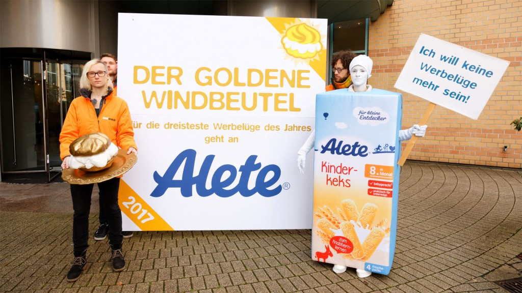 Goldener Windbeutel für Alete (Foto: Foodwatch)