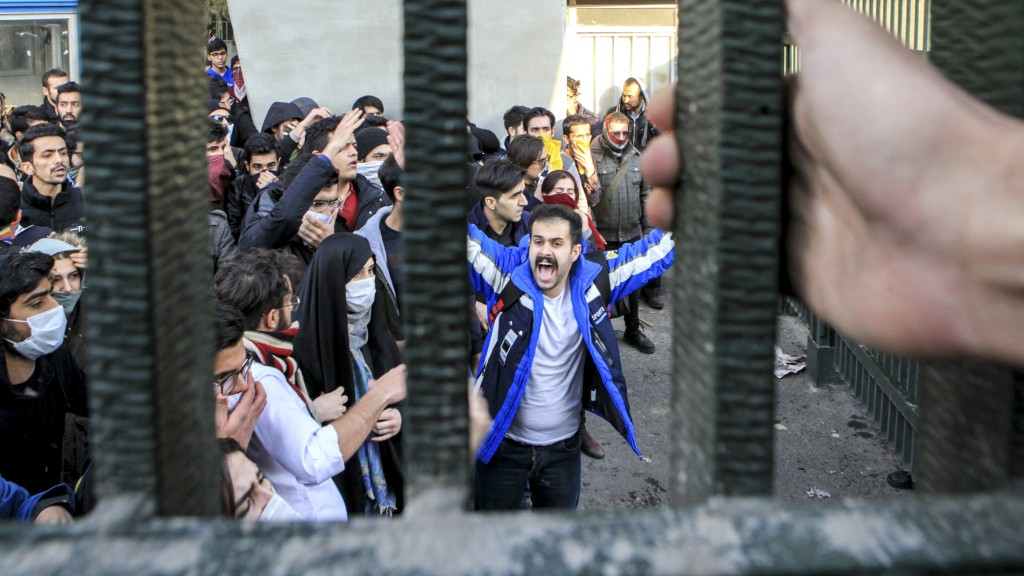 Studenten-Proteste an der Universität von Teheran (Iran) [Foto: dpa / picture alliance / AP]