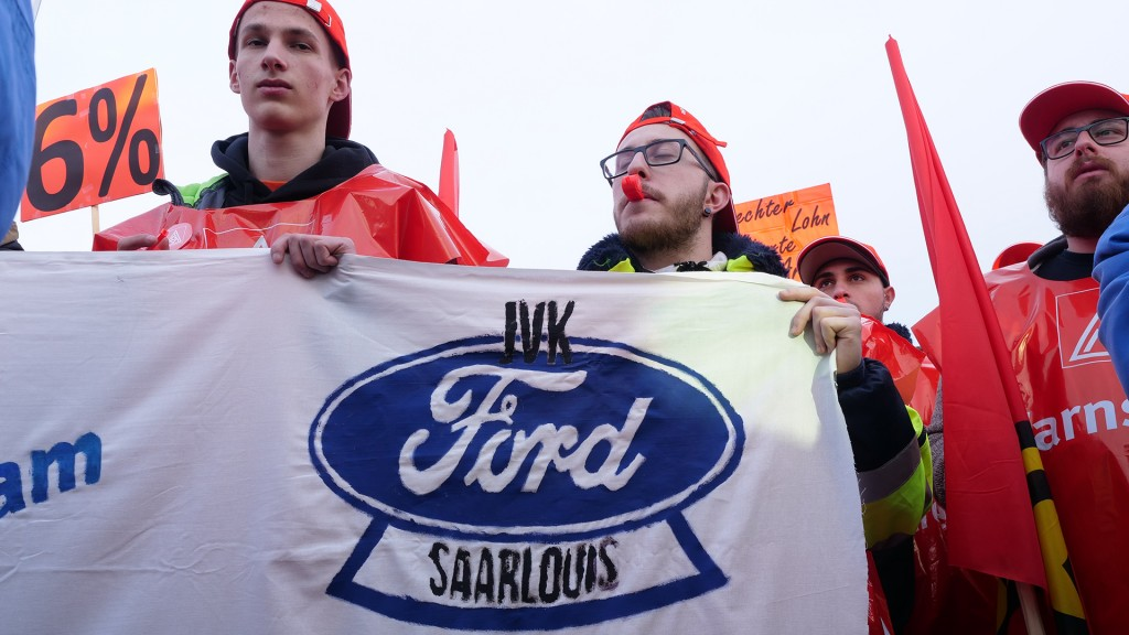 Warnstreik bei Ford (Foto: Pasquale D'Angiolillo)
