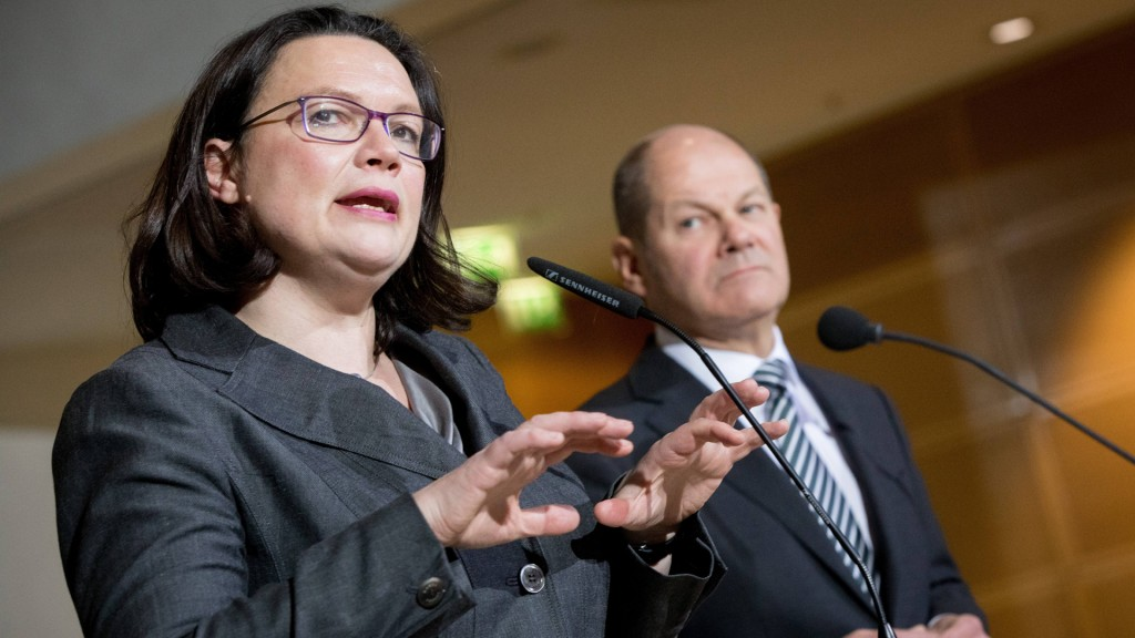 Andrea Nahles und Olaf Scholz (Foto: dpa)