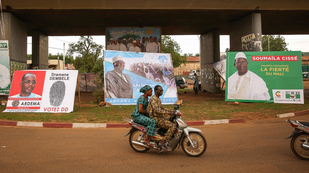 Wahlkampfplakate in Mali, 2018 (Foto: Imago/Zuma Press)
