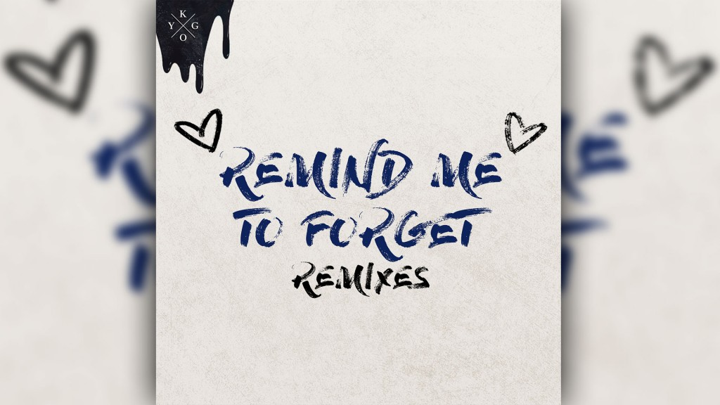 Cover : Kygo - Remind Me To Forget (Bild: Sony Music)