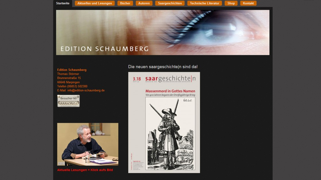 Screenshot Homepage Editon Schaumberg