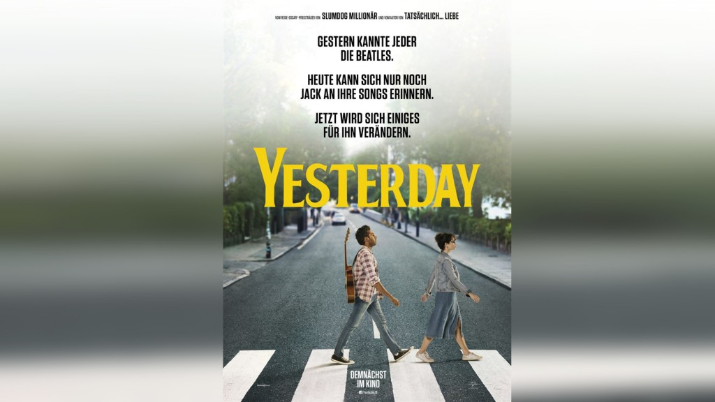 Filmplakat: Yesterday