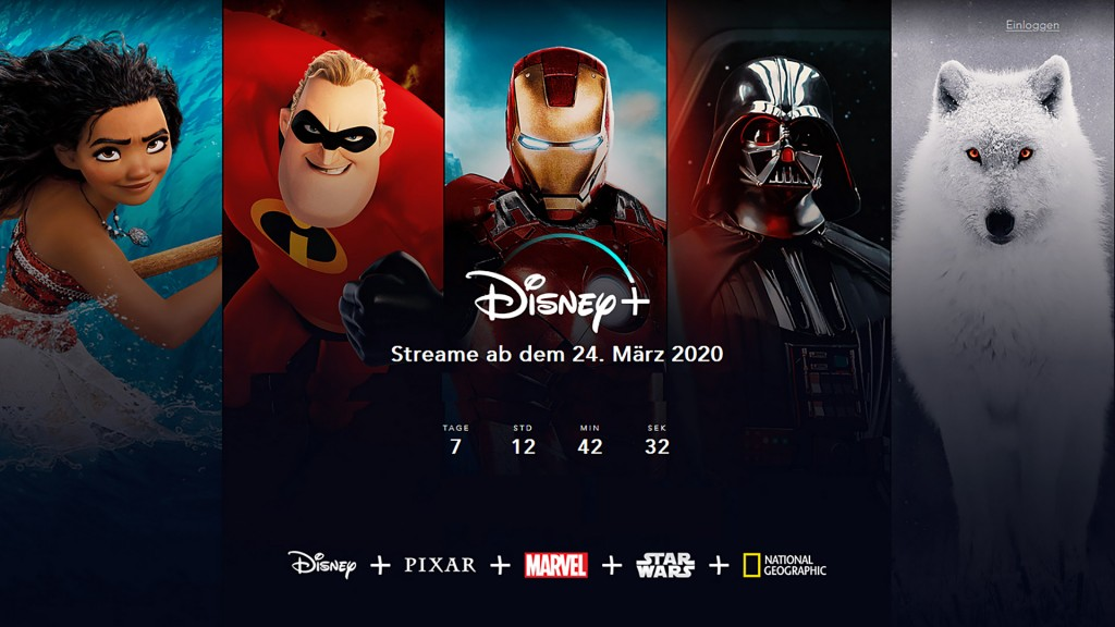 Plakat von Disney+. (Foto: Screenshot)