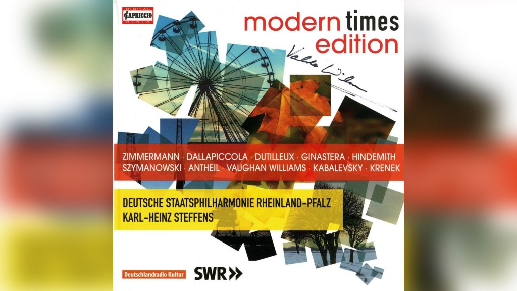 CD-Cover (modern times edition bei Capproccio)